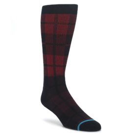 Red Black Plaid Mens Casual Socks STANCE