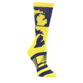 Yellow Blue Michigan Women's Dress Socks