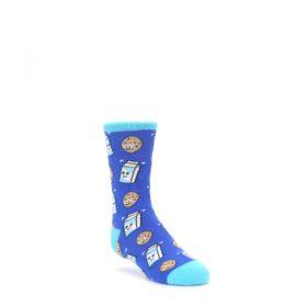 Blue Milk and Cookies Kids Dress Socks Socksmith