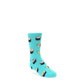 Teal Sushi Kids Dress Socks Socksmith
