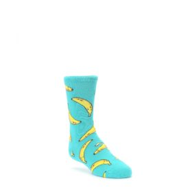 Teal Bananas Kids Dress Socks Socksmith