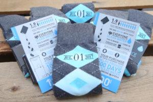 Turquoise Pool and Gray Argyle Customized Date Groomsmen Dress Socks