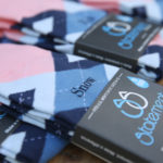 Pink and Blue Argyle Customized Text Groomsmen Dress Socks