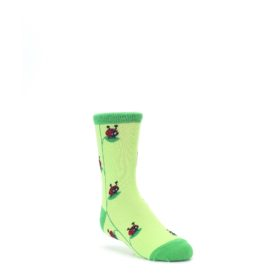 junior green red lady bug kids dress socks sock it to me