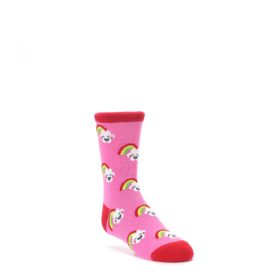 JUNIOR Pink Cloud Rainbow Kids Dress Socks Sock it to Me