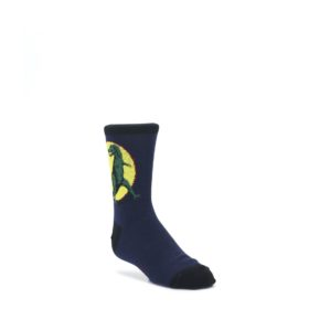 Navy Yellow T-Rex Kid's Dress Socks