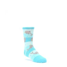 blue grey narwhal kids dress socks