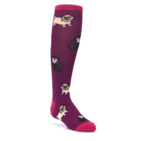 Purple Pug Life Kid's Knee High Socks