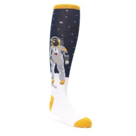 Navy Moon Astronaut Kids Knee High Socks Sock it to Me