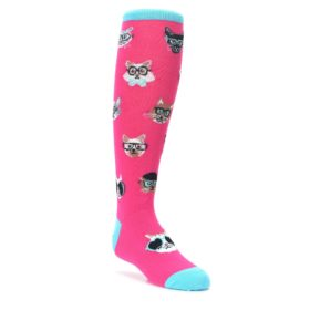kids smarty cat novelty knee high socks