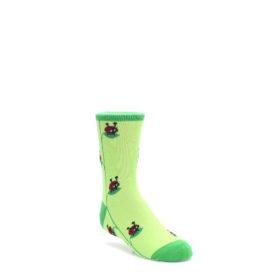 SITM-JUNIOR-Green-Red-Lady-Bug-Kids-Dress-Socks-Sock-it-to-Me
