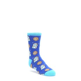 7-10Y-Blue-Milk-and-Cookies-Kids-Dress-Socks-Socksmith