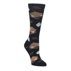 black brown s'mores women's novelty dress socks socksmith