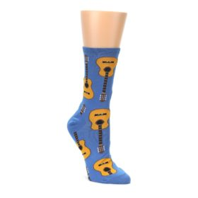 blue brown guitars womens novelty dress socks socksmith
