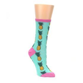 green orange pineapples women's novelty dress socks
