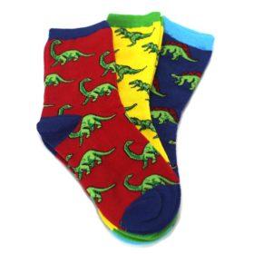 24234SS-7-10Y-Dino-Mite-Dinosaurs-Kids-Dress-Socks-3-Pairs-Socksmith01