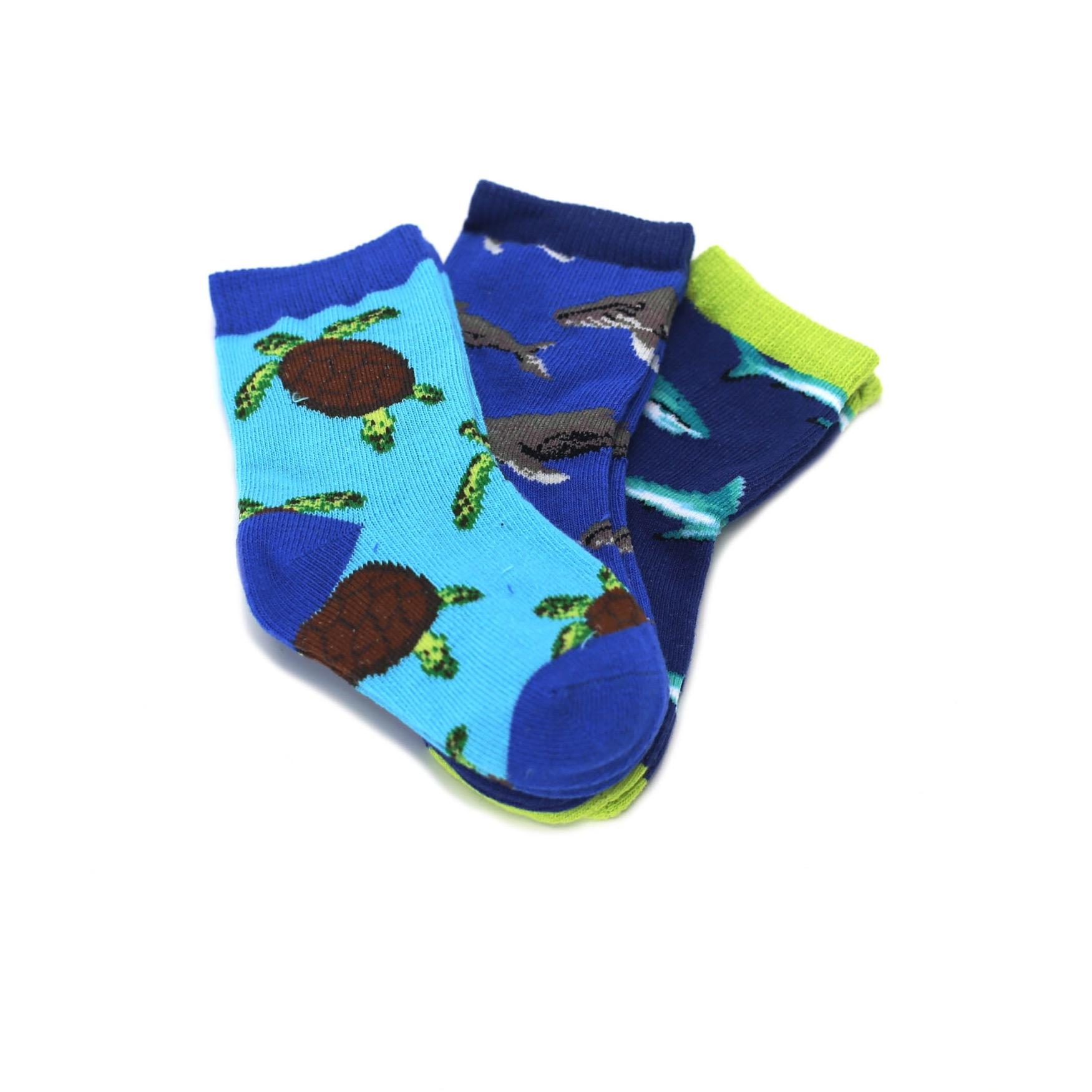 Ocean Animals Toddler Dress Socks 3 Pairs Socksmith