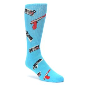 Blue Retro Gamer Mens Casual Socks Odd Sox