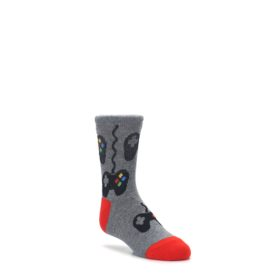 Gray-Video-Game-Controller-Kids-Dress-Socks-K-Bell