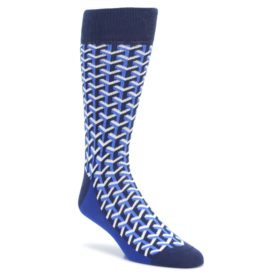 Blue-Optical-Y-Mens-Dress-Socks-Statement-Sockwear