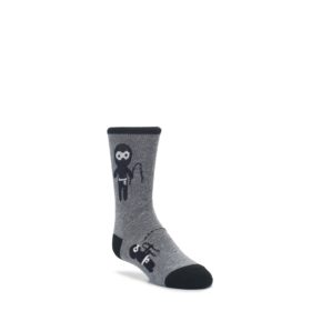 Gray-Ninja-Warrior-Kids-Dress-Socks-K-Bell