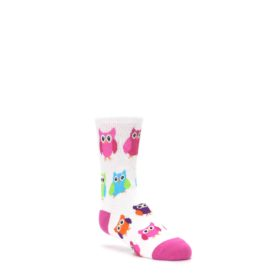 White-Multi-Owls-Kids-Dress-Socks-K-Bell