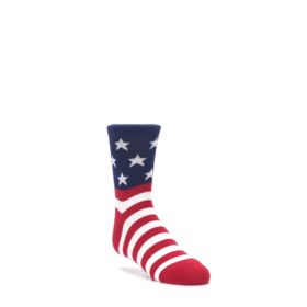 Red-White-Blue-American-Flag-Kids-Dress-Socks-K-Bell
