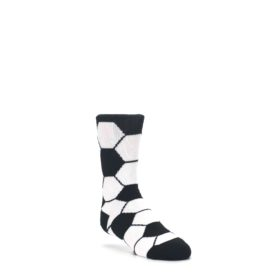 Black-White-Soccer-Ball-Kids-Dress-Socks-K-Bell
