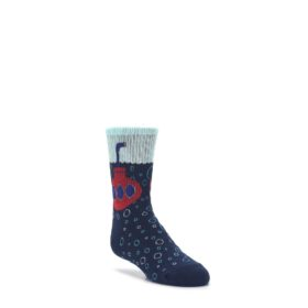 Navy-Red-Submarine-Kids-Dress-Socks-K-Bell