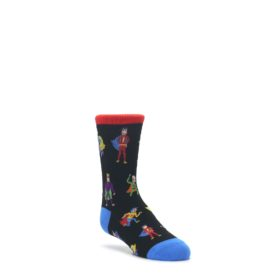 Black-Multi-Super-Heros-Kids-Dress-Socks-K-Bell