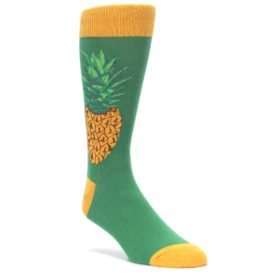 Green-Yellow-Pineapple-Mens-Dress-Socks-Socksmith