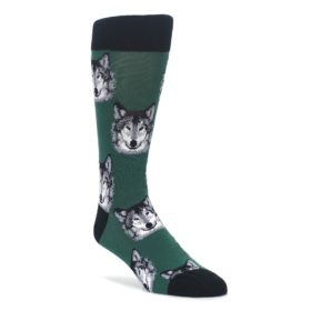 Green-Gray-Wolf-Mens-Dress-Socks-Socksmith