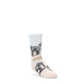 Tan Gray Elephant Herd Kid's Dress Socks