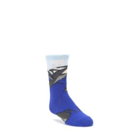Blue-Gray-Playful-Dolphins-Kids-Dress-Socks-Wild-Habitat