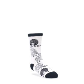 White-Black-Lots-of-Sheep-Kids-Dress-Socks-Wild-Habitat