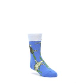 Blue Turtles in Sea Kelp Kid's Dress Socks