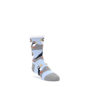 Blue Gray Puffin Birds Kid's Dress Socks