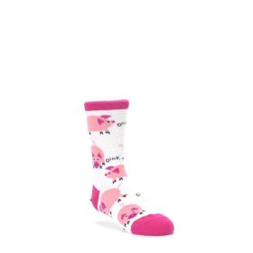 White Bunch of Pigs Oink Kid's Dress Socks