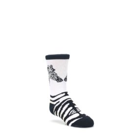 White-Black-Zebra-Kids-Dress-Socks-Wild-Habitat