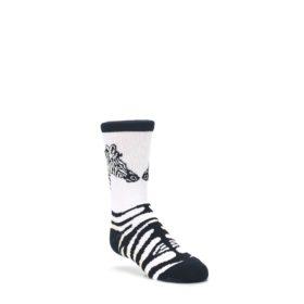 White-Black-Zebra-Kids-Dress-Socks-Wild-Habitat