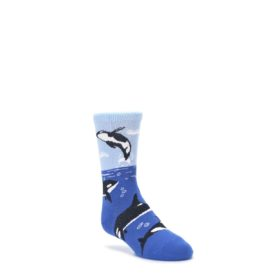 Blue-Black-Killer-Whales-Kids-Dress-Socks-Wild-Habitat