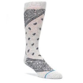 Light-Gray-Barrio-Paisley-Mens-Casual-Socks-STANCE
