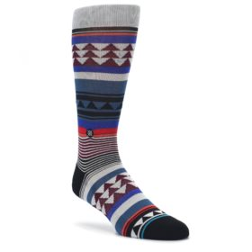 Gray-Multi-Triangle-Stripes-Mens-Casual-Socks-STANCE