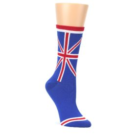 Blue-Red-British-Flag-Womens-Dress-Socks-K-Bell-Socks