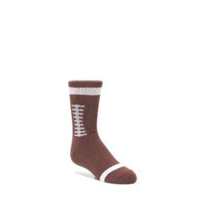 Brown-Football-Kids-Dress-Socks-K-Bell