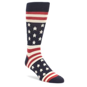 Rustic-Red-Navy-American-Flag-Mens-Dress-Socks-Statement-Sockwear