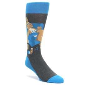 Blue-Kangaroo-Pouch-Potato-Mens-Dress-Socks-Statement-Sockwear