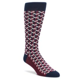 Burgundy-Optical-Y-Mens-Dress-Socks-Statement-Sockwear