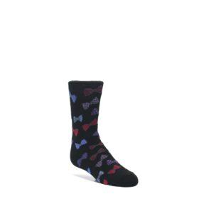 Black-Red-Bow-Ties-Kids-Dress-Socks-K-Bell