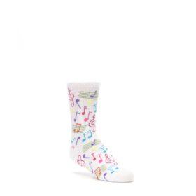 White-Multi-Music-Notes-Kids-Dress-Socks-K-Bell